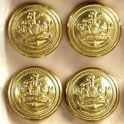 Buttons issued to Merchant Navy Officers.