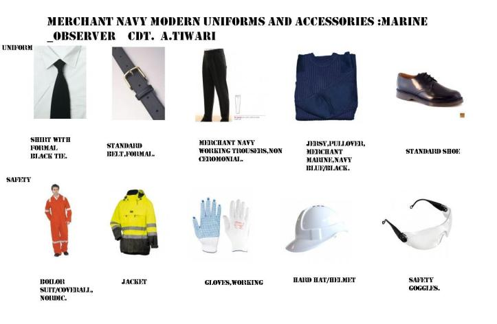 Modern uniforms and accessories.