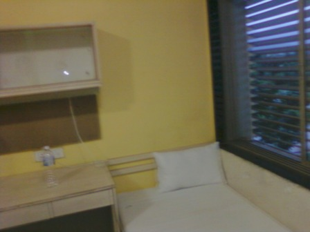my bed at my institute,second day of my joining.