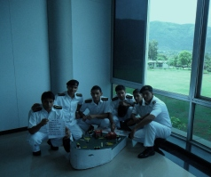 Me and my batch mates,with our project, two guys missing.
